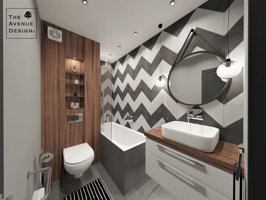 Bathroom with wood elements