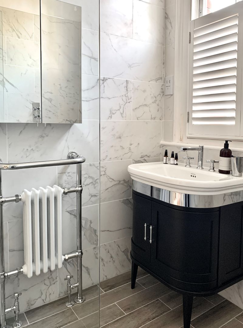 Traditional wetroom - Marble
